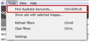 duplicate keywords in adwords