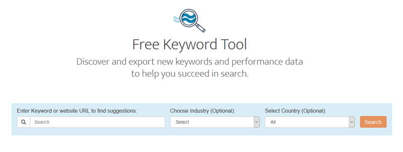 free industry keyword tool