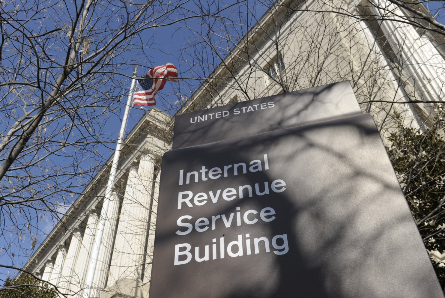 Freelancer's guide to taxes IRS building exterior with signage