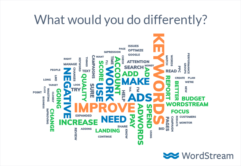 what would you do different in adwords