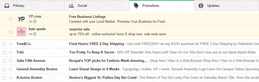 gmail ads makeover