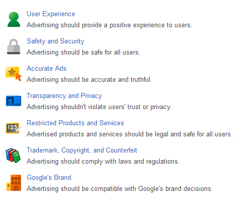 google adwords policy