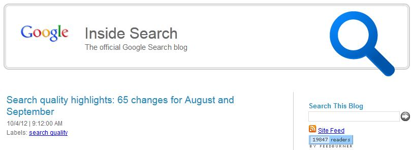 Inside Search is Google's official search blog