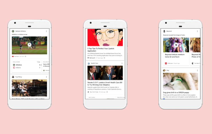 google mobile news feed