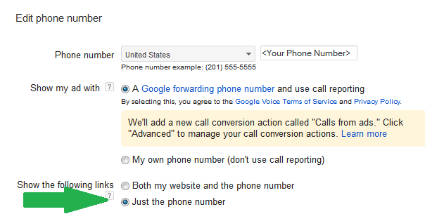 google forwarding number