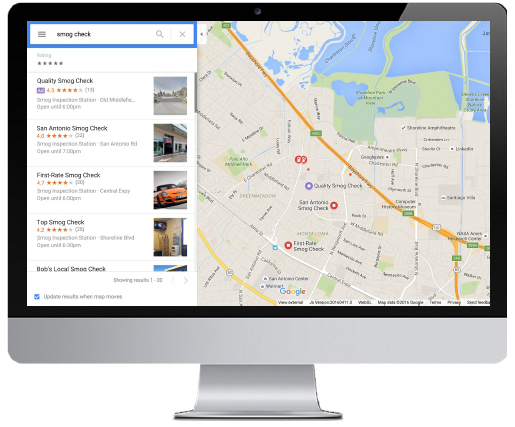 desktop google maps ads