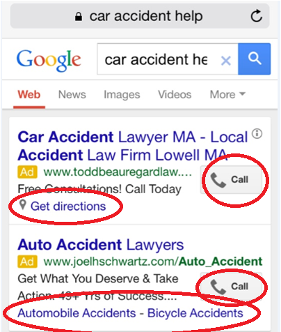 using google mobile ads extensions