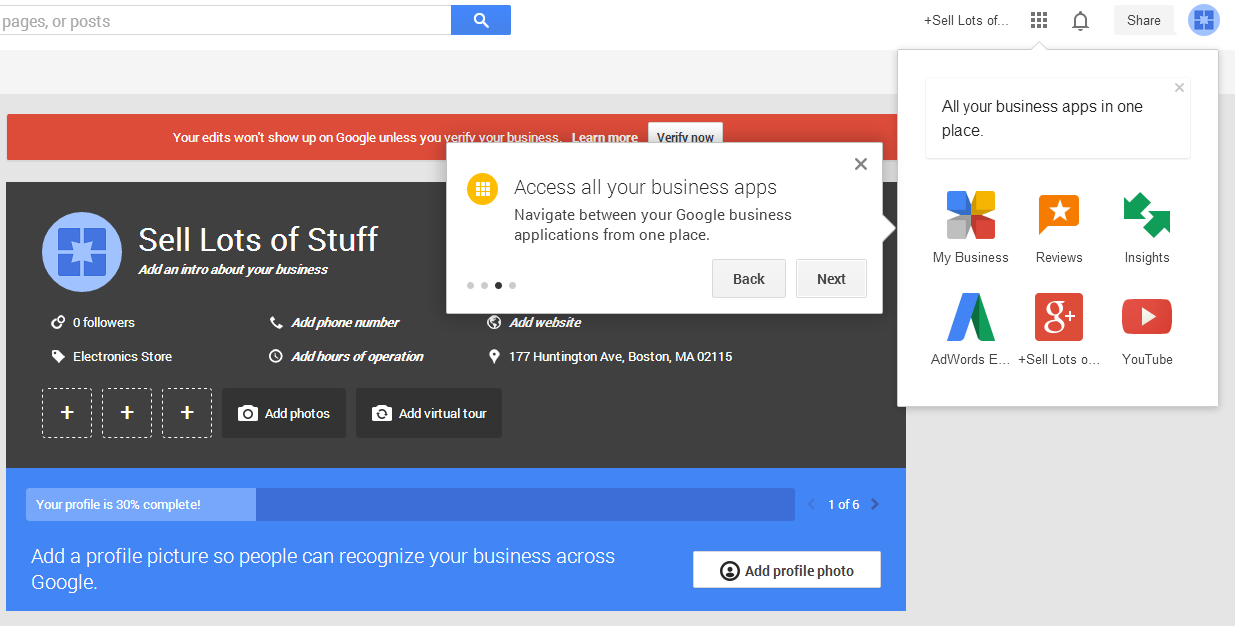 google my business apps