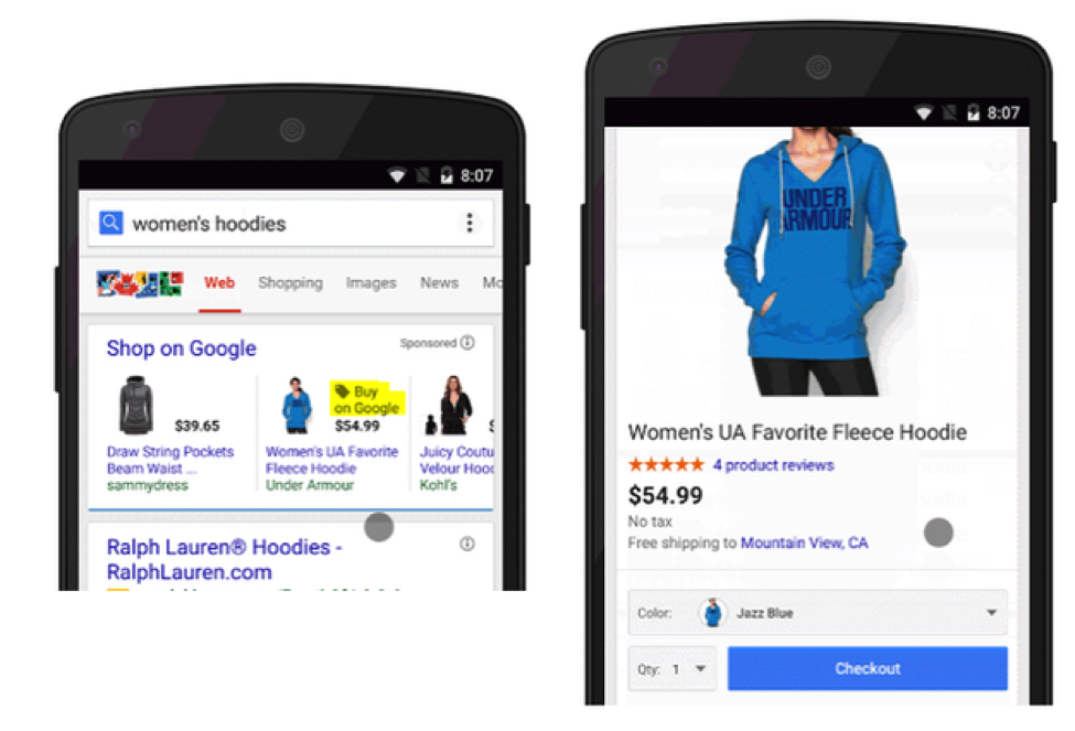 purchases on google for mobile serp