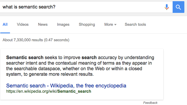 Google Voice Search semantic search