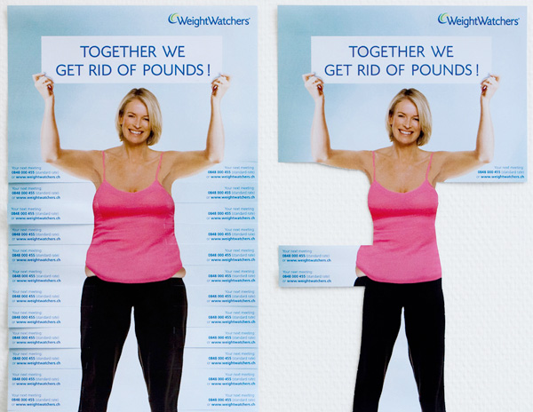 Grassroots marketing Weight Watchers tear-off-flyer