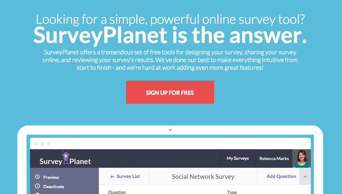 Great Online Survey Tools  Free Questionnaire Template