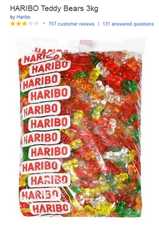 haribo sugar free gummy bears