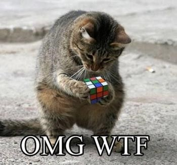 8 Reasons I Hate LinkedIn Ads cat with a Rubik's cube