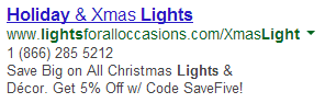AdWords for Holidays