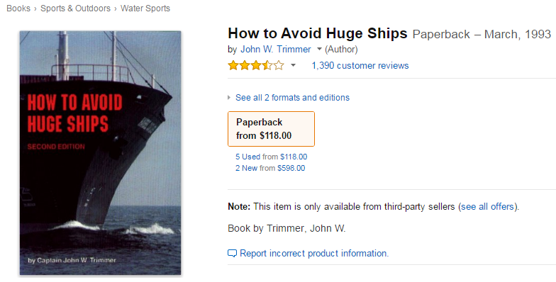 How to promote a book How to Avoid Huge Ships