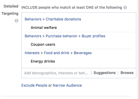 instagram behavior targeting