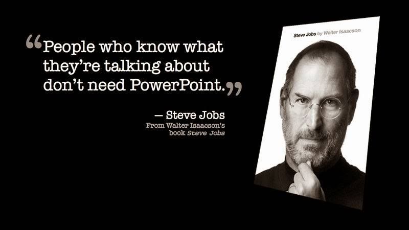 How to write a blog post Steve Jobs PowerPoint quote