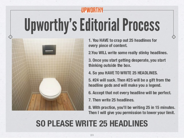How to write a blog post Upworthy headline rules