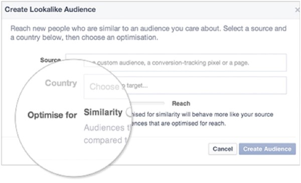 Increase sales online target lookalike audiences in Facebook