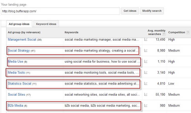 using keyword planner for research
