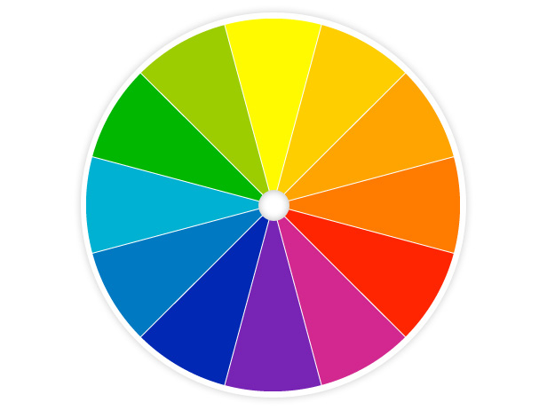 Landing Page color wheel