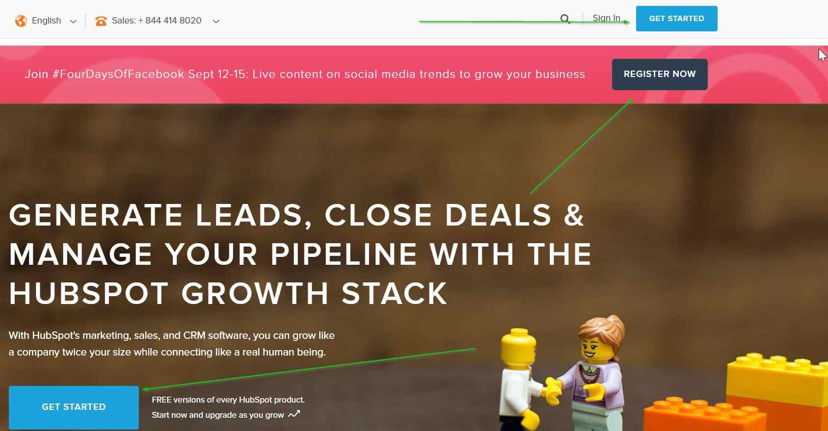 Landing page designs HubSpot squeeze page example
