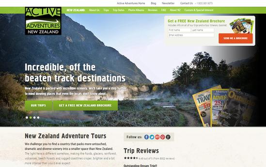 Landing page ideas green color scheme