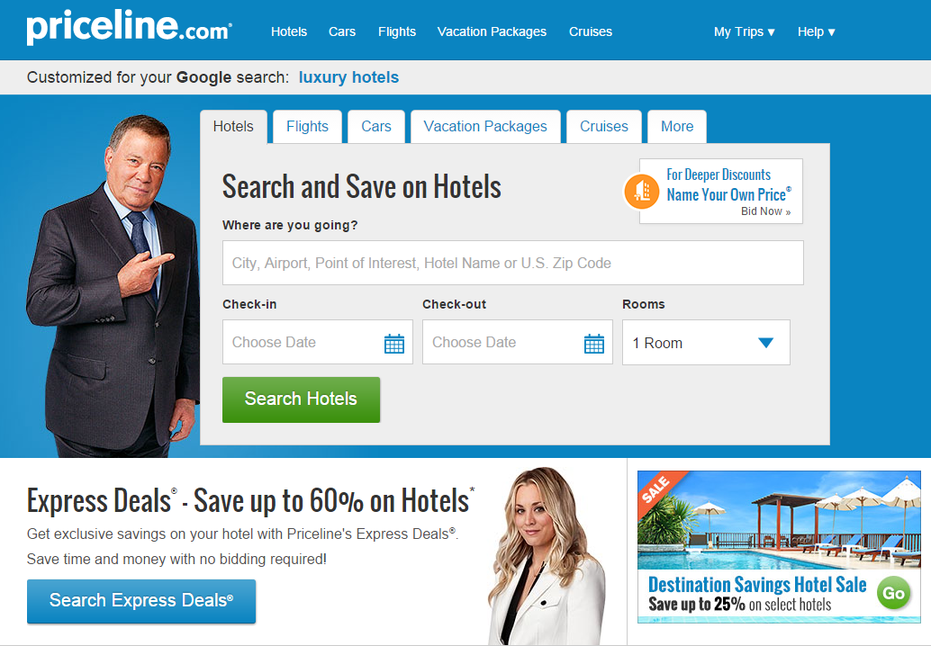 Landing page ideas pointing directional cues