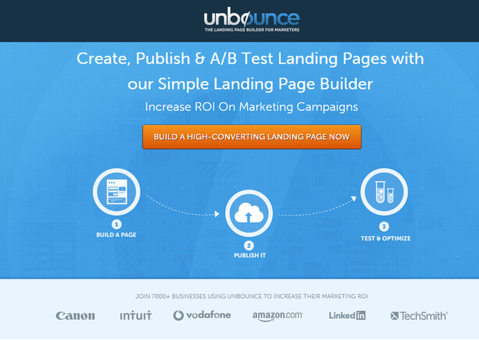 Landing page ideas one-click signup