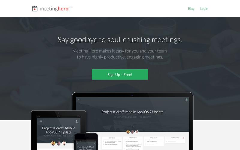 Landing page inspiration poke fun at common problems