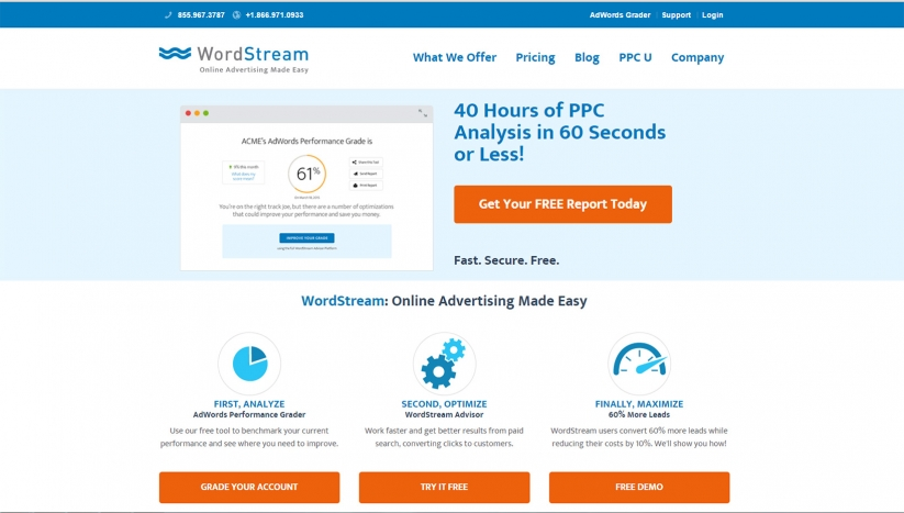 Landing page optimization myths WordStream new offer