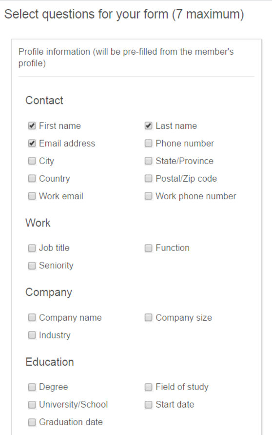 linkedin lead gen form questions advertisers can ask