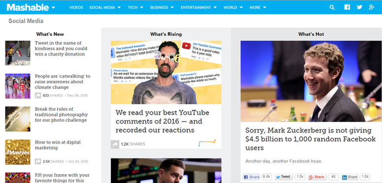 Marketing news Mashable