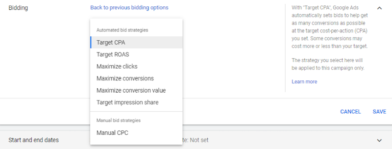 Google ads grants bidding