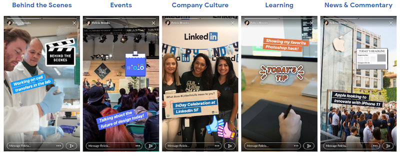 LinkedIn-Stories-examples