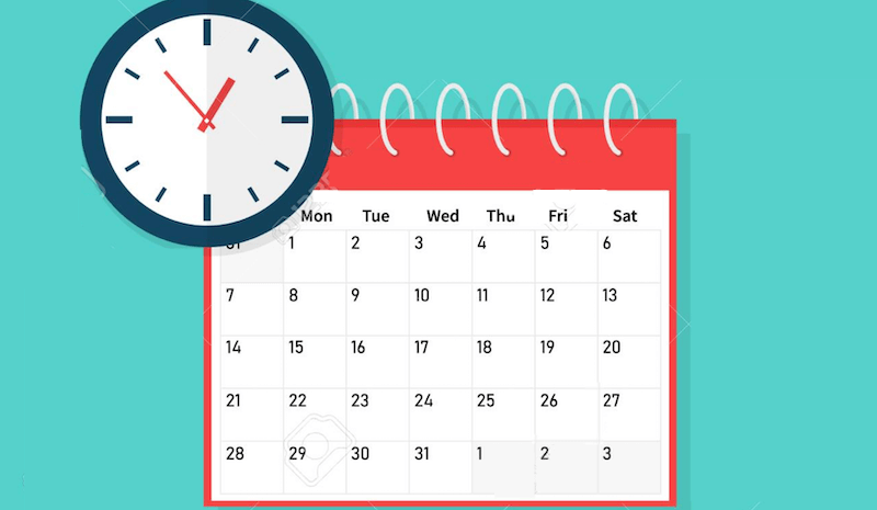 ad scheduling calendar and clock