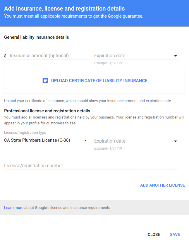 add-license-insurance-details