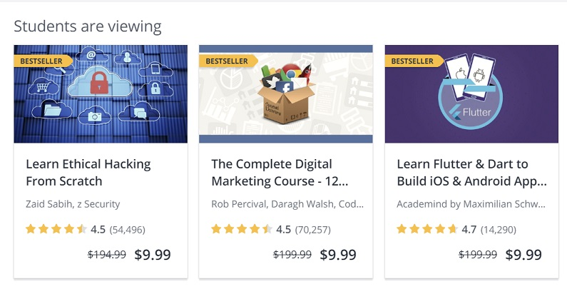 best marketing strategies Udemy courses example