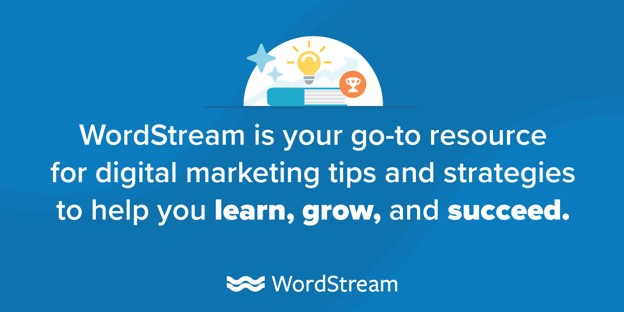 WordStream's content marketing mission statement