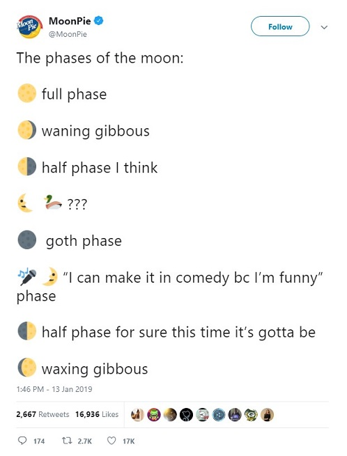 MoonPie tweet with emoji