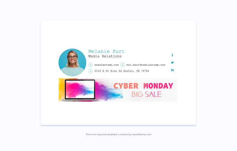 email signature marketing trends for 2021 example 13