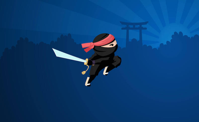 exceptional content marketing examples ninja in action