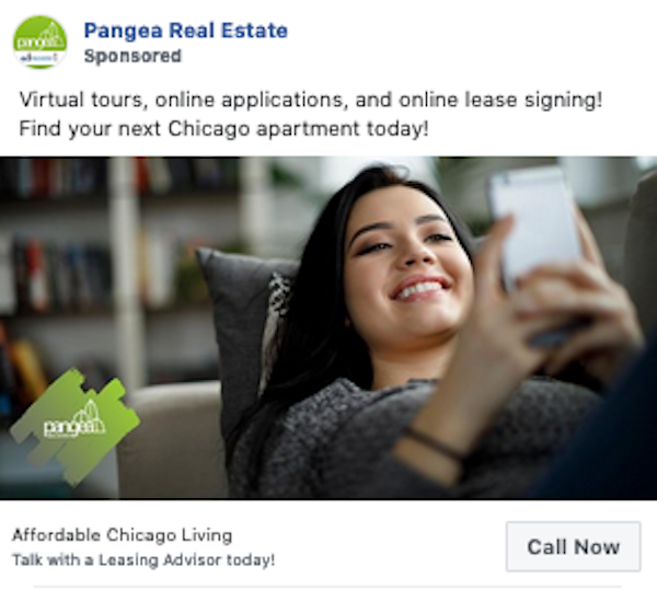 facebook click to call Reach Call Ad Example