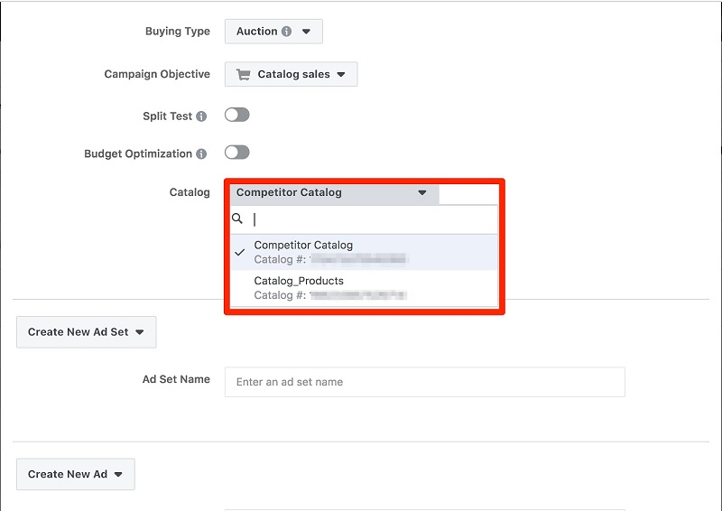 Facebook ad transparency ecommerce strategy competitor catalog