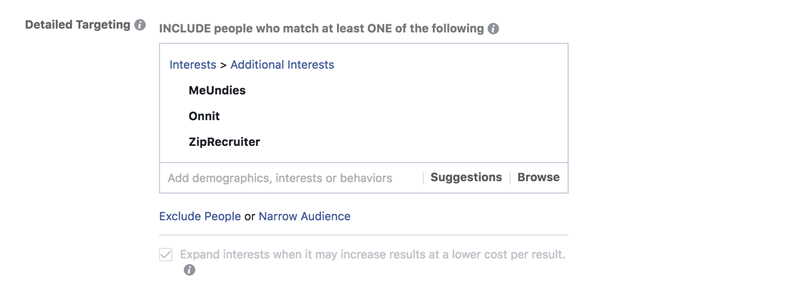 targeting podcast advertisers using facebook ads