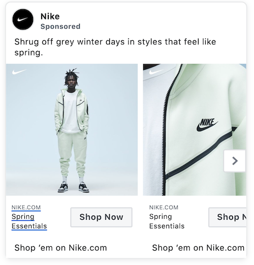 facebook dynamic ads nike