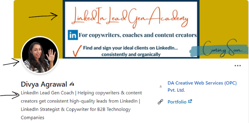 Generate leads linkedin profile