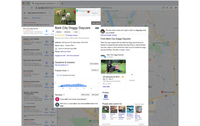 google my business optimization full listing bark city