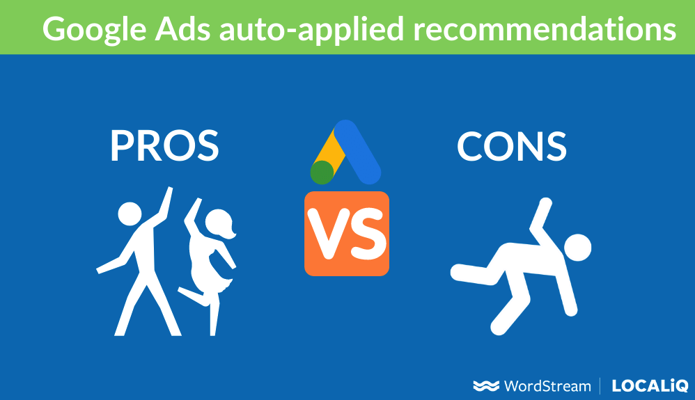 google ads auto applied recommendations pros vs cons